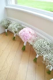 Image result for gypsophila bouquet bridesmaids pink