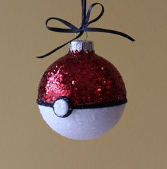 Pokemon Pokeball Ornament by MamaGooseCrafts on Etsy