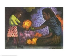 Mother's Helper Print by Diego Rivera at Art.com