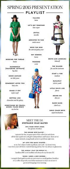 Kate Spade Spring 2015 Presentation Playlist