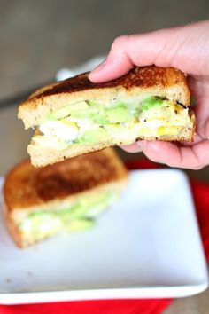 Avocado Egg Grilled Cheese Sandwich with Dijon Mustard and Mayo and Pepper Jack Cheese