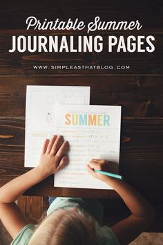 Printable Summer Journaling Pages - simple as that