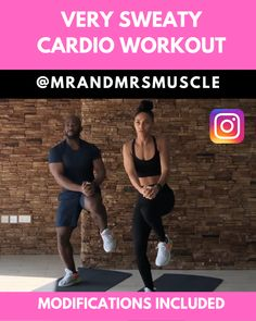 Try this very sweaty cardio workout now! Torch tons of calories and burn loads of fat! --- Try this very sweaty cardio workout now! Torch tons of calories and burn loads of fat! Hiit Workout Videos, Intense Cardio Workout, Full Body Hiit Workout, Hiit Workout At Home, Cardio Workout At Home, Gym Workout Tips, Fitness Workout For Women, Pilates Workout, Workout Challenge