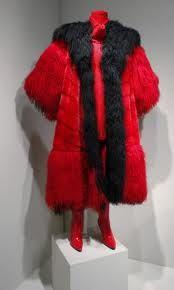 Cruella DeVil's black & red fur coat