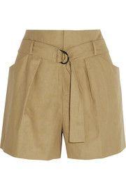 Isabel MarantCotton and linen-blend shorts