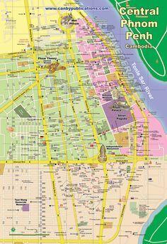 Map - Central Phnom Penh