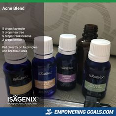 Pimples and breakouts are no fun for anyone. Give this blend of Isagenix essential oils a try next time you have a pimple.