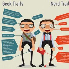 Geeks vs. Hipsters (Funny Infographics)