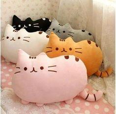 Kawaii Kids Toys Stuffed Animal Doll Peluches Anime Plush Toys Pusheen Cat Pillow For Girl Kid Cute Cushion Brinquedos Chat Kawaii, Kawaii Cat, Kawaii Room, Plush Animals, Stuffed Animals, Stuffed Toys, Pet Toys, Doll Toys, Kids Toys