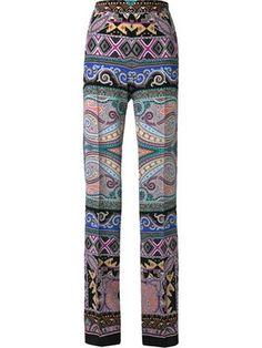 брюки прямого кроя  с принтом пейсли