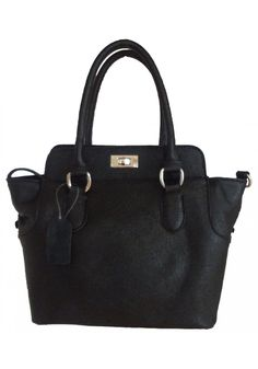 Rosabella Loubier -- Women's Cute Black Mini Leather Handbag