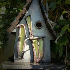 Beautifully hand crafted bird house. This particular one displayed has been sold but I can remake it  Add a touch of magic and wonder to your garden with a Little Lodgings bird house. Hand crafted using sustainable exterior ply wood and joinery grade pine and oak, it has then been