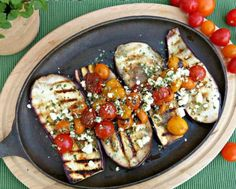 Keep outdoor entertaining simple but super delicious with my go to grilled vegetable for the season – eggplant! Served up like a tomato-topped steak, this big purple powerhouse of nutritious makes a m