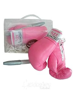 breast cancer awareness gifts - cancer patients http://www.headcovers.com/11974/fight-like-a-woman-autographable-boxing-gloves/