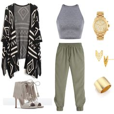 Relaxed by one03am on Polyvore featuring polyvore, fashion, style, White House Black Market, Zara, Michael Kors, Kenneth Jay Lane and Gorjana
