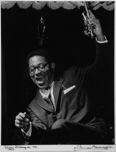 Dizzy Gillespie dancing with joy