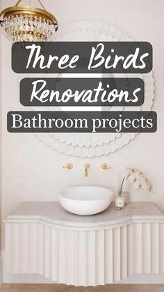 Bathroom Trends, Budget Bathroom, Bathroom Renovations, Modern Bathroom Design, Bathroom Interior Design, Three Birds Renovations, Bathroom Gadgets, Sink Design, Luxury Decor