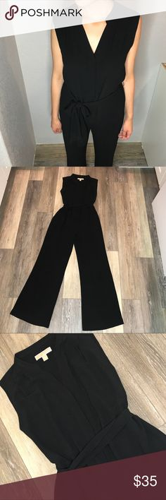 Michael kors Black Jumpsuit Black michael Kors jumpsuit. Wore couple times. Great for work, meeting or a night out. Size XS but can fit someone size Small. Michael Kors Pants Jumpsuits & Rompers
