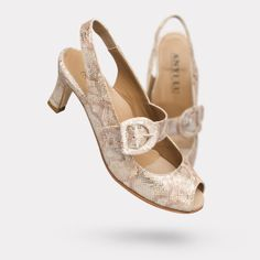 The Tulipe - Metallic Pitone  On sale for $425. #AnyiLu #heels #fashion #shoes