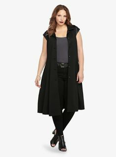 Fashion Bug Plus Size Maleficent Short Sleeve Gothic Coat www.fashionbug.us