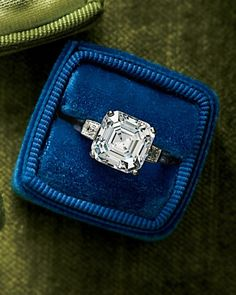 Dazzling Engagement Rings ~~ Asscher-Cut Diamond Engagement Ring   Royal Asscher, royalasscher.com