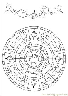 91 Mandalas printable coloring pages for kids. Find on coloring-book thousands of coloring pages.