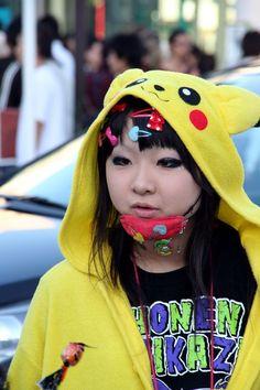 Harajuku Girl as Pikachu (ピカチュウ, Pikachū?) - one of the 493 fictional species of Pokémon creatures from the multi-billion-dollar Pokémon media franchise. Japan. S)