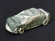 CAR Money Origami Vehicle Made of Real Dollar by VincentTheArtist, / This guy is amazing!!