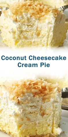 Ingredients 1 ready-to-use Nilla Wafer crust 2 boxes oz each) coconut instant pudding 2 cups half & half milk 1 bar oz) cream cheese, softened cup granulated sugar. Coconut Cheesecake, Coconut Desserts, Coconut Recipes, Cheesecake Recipes, Best Dessert Recipes, Sweets Recipes, Easy Desserts, Baking Recipes, Delicious Desserts