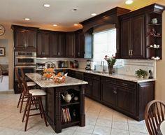 kitchens with dark cabinets rh pinterest com Dark Cabinets Backsplash Kitchen Remodel Dark Cabinets Backsplash Kitchen Remodel