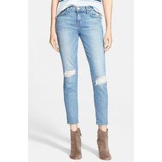 Current/Elliott 'The Stiletto' Destroyed Skinny Jeans