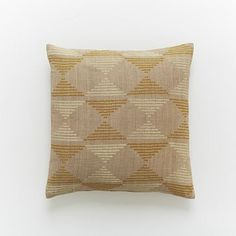 Hand-Blocked Silk Triangles Pillow Cover #WestElm  I think this would look perfect with the amber/orange couch