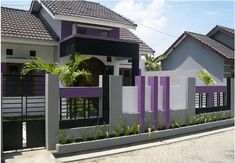 40 Minimalist Wall Fence Models - Speaking of building a house, there are many things that we must pay attention . Fence Wall Design, Modern Fence Design, House Gate Design, House Front Design, Modern Exterior, Exterior Design, Boundry Wall, Affordable Bedroom Sets, Compound Wall Design