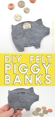 Banks Tutorial Get the free pattern to make a whole mess of felt piggy banks. Easy, cheap and a great little gift!Get the free pattern to make a whole mess of felt piggy banks. Easy, cheap and a great little gift! Sewing Patterns Free, Free Sewing, Free Pattern, Felt Ornaments Patterns, Felt Gifts, Sewing Projects For Kids, Sewing Ideas, Craft Projects, Crafts To Make And Sell