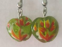Check out this item in my Etsy shop https://www.etsy.com/listing/471289320/green-floral-glass-beaded-earrings