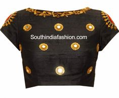 A versatile black embellished blouse, can be teamed well with many colors | PATAKA GUDDI