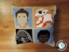 Star Wars The Force Awakens Crochet Cushion by Ahookamigurumi.deviantart.com on @DeviantArt