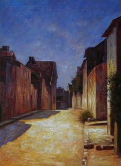 Street in Samois - Odilon Redon Paintings