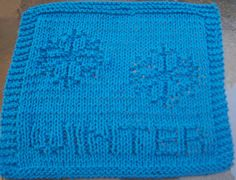 DigKnitty Designs: Winter Knit Dishcloth Pattern