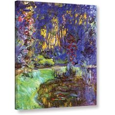 Claude Monet Giverny Gallery-Wrapped Canvas, Size: 36 x 48, Green