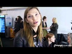 Back stage with Karlie Kloss, Schoolgirl-Supermodel - YouTube