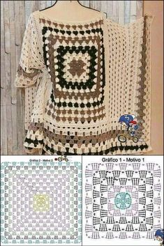 Crochet Summer Dresses, Crochet Summer Tops, Crochet Bolero Pattern, Easy Crochet Patterns, Granny Square Bag, Embroidery Store, Boucle Yarn, Crochet Shell Stitch, Crochet Cover Up