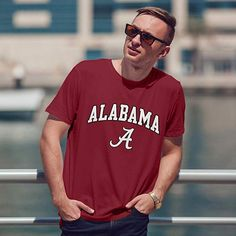 fe8b0441 Amazon.com : Campus Colors NCAA Adult Arch & Logo Soft Style Gameday T