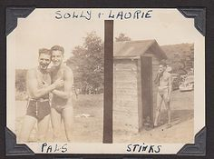 1939 outhouse, Larry and Solly