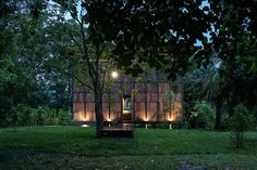 Glass Facades, Waterford Crystal, Bedroom Loft, Chiang Mai, Steel Frame, Lush, Cabin, Grid, Landscape