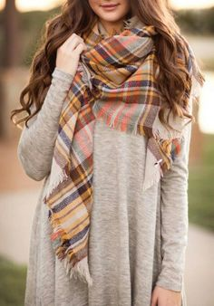Fall Colored Plaid B