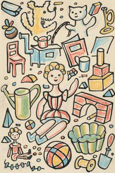 Josef Čapek - Povídání o pejskovi a kočičce, Prague. Cubism, Childrens Books, Illustrators, Modern Art, Graphic Design, Comics, Artist, Prague, Painting