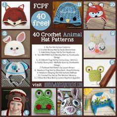 40 Fabulous and Free Crochet Animal Hat Patterns Oombawka Design Crochet