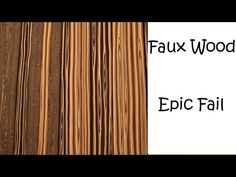 Polymer clay - Faux Wood - Epic Fail - YouTube