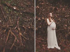 Beautiful Forest Maternity Photos